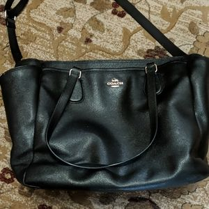 Coach black All leather Baby bag